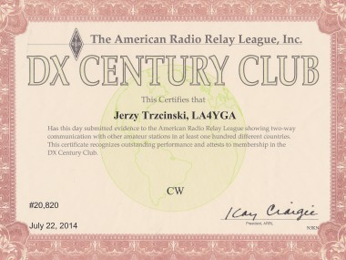 DXCC Award-CW