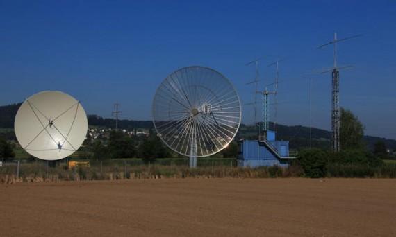 HB9Q antennas and shack 1